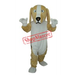 Khaki and White Dog Mascot Adult Costume Free Shipping