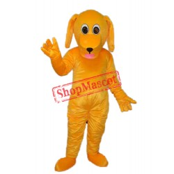 Yellow Dog Mascot Adult Costume Free Shipping