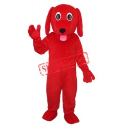 Little Red Dog Mascot Adult Costume Free Shipping
