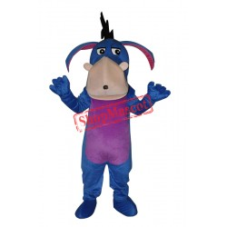 Blue Eeyore Adult Mascot Costume Free Shipping