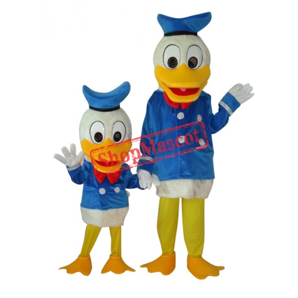 Child and Adult Donald Duck Plush Mascot Costume Free Shipping