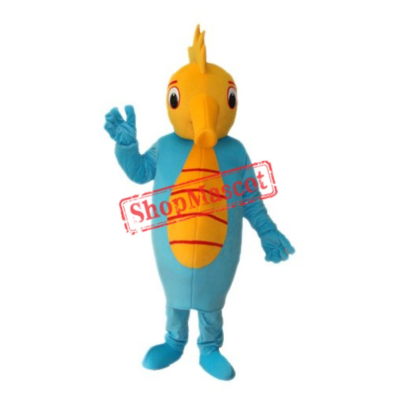 Seahorse costume blue seahorse mascot for adult costume full-fle Free Shipping