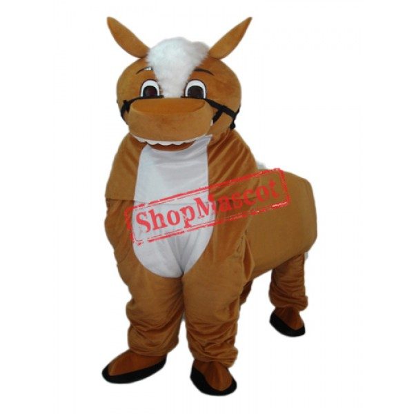Small Brown Horse Mascot Adult Costume Free Shipping