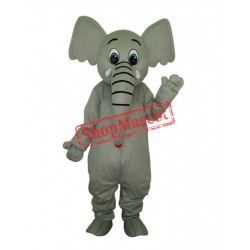 Little Grey Elephant Mascot Adult Costume Free Shipping