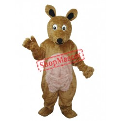 Long Hair brown Kangaroo Mascot Adult Costume Free Shipping