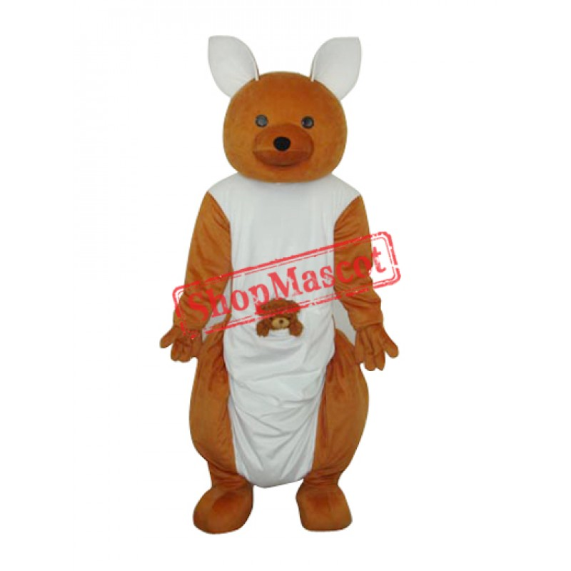 Long-feet Kangaroo Plush Mascot Adult Costume Free Shipping