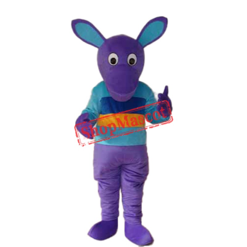 Purple Kangaroo Mascot Adult Costume Free Shipping