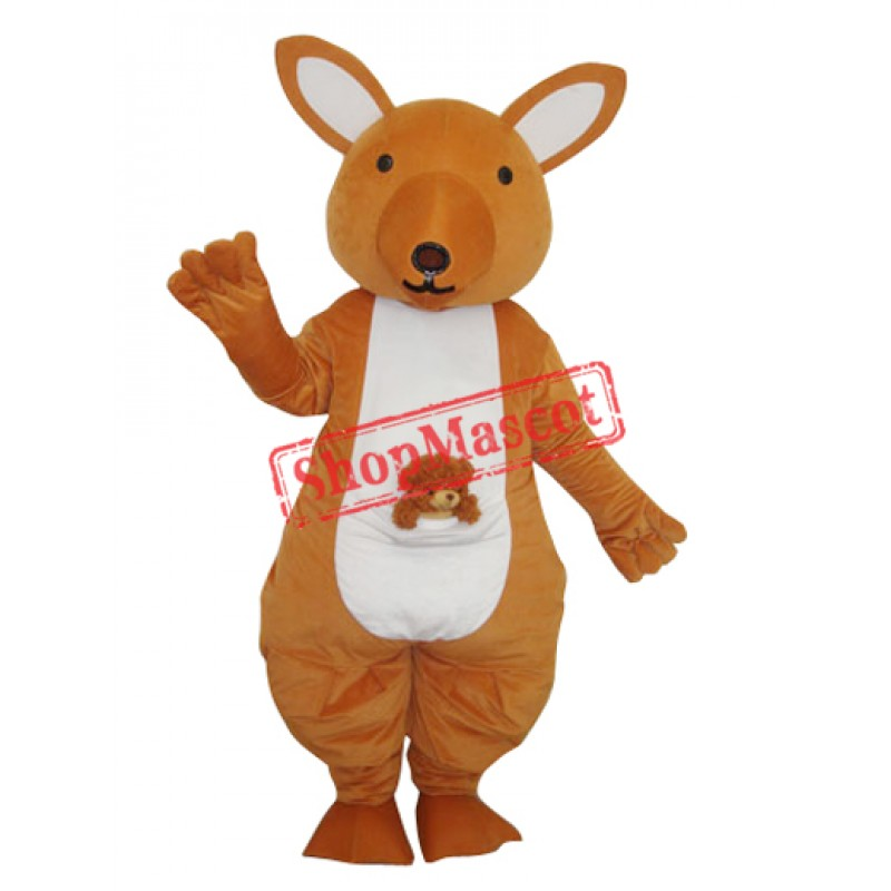 Yellow Kangaroo Mascot Adult Costume Free Shipping