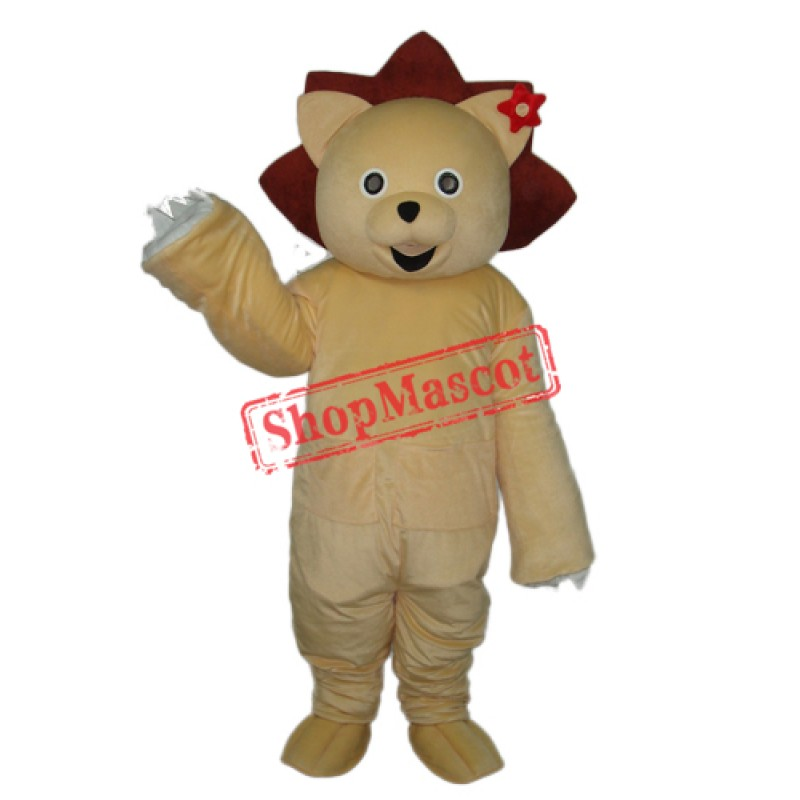 Golden Lion Mascot Adult Costume Free Shipping