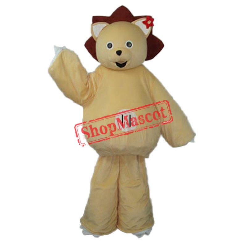 Modified Version of Golden Lion Mascot Adult Costume Free Shipping