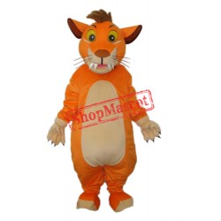Orange Lion Mascot Adult Costume Free Shipping