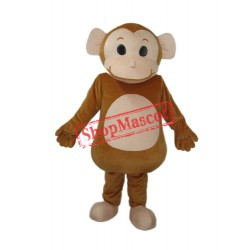 Big Head Monkey Mascot Adult Costume Free Shipping