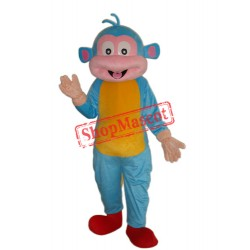 Blue Boots Monkey Mascot Adult Costume Free Shipping