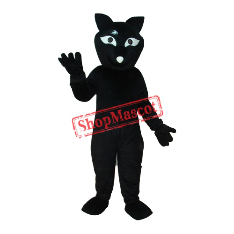 Black Fox Mascot Adult Costume Free Shipping