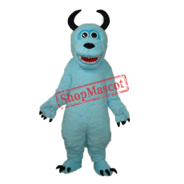 Coral Velvet Blue Sulley Mascot Adult Costume Free Shipping