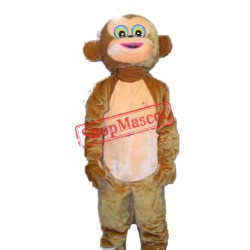 Happy Monkey Mascot Adult Costume Free Shipping
