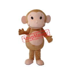 Little Brown Monkey Mascot Adult Costume Free Shipping