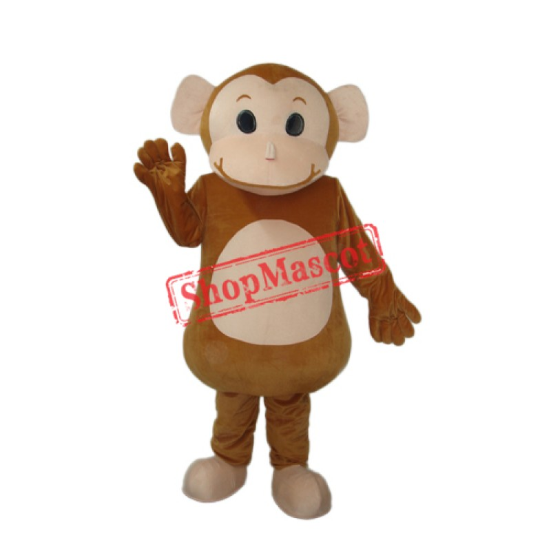 New Little Brown Monkey Mascot Adult Costume Free Shipping