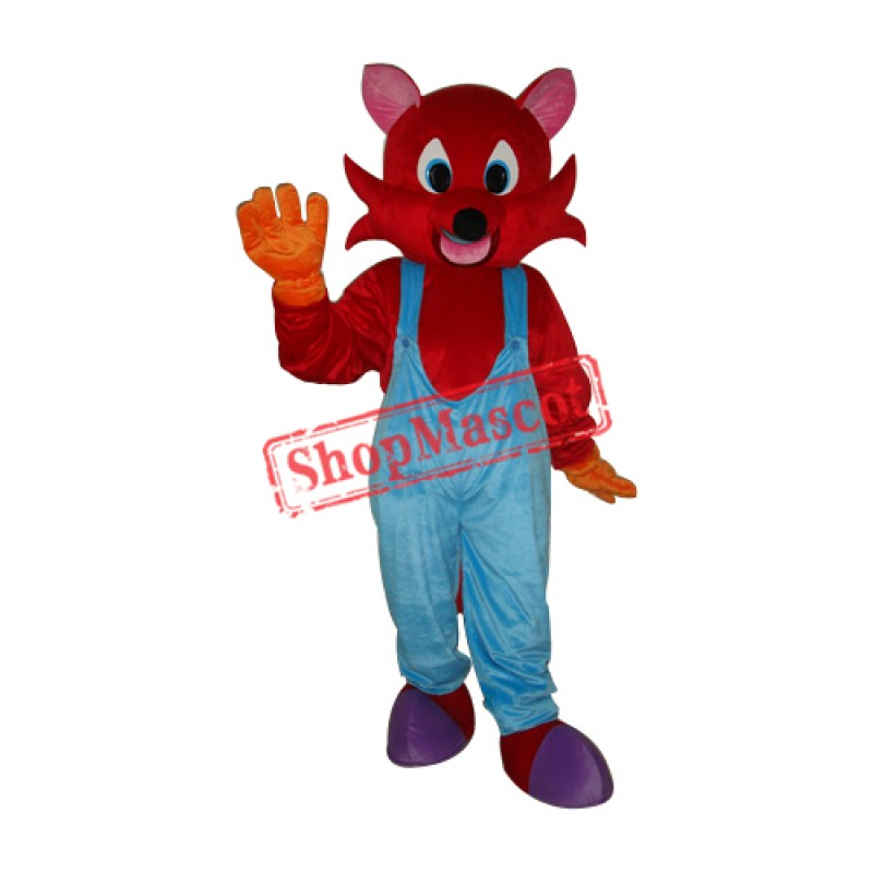 Red Fox Mascot Adult Costume Free Shipping