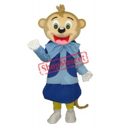 Smart Monkey Adult Mascot Costume Free Shipping