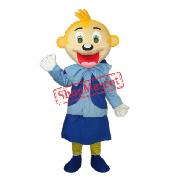 Smart Yellow Head Monkey Mascot Adult Costume Free Shipping