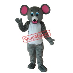 Little Grey Mouse Mascot Adult Costume Free Shipping