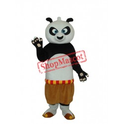 2nd Version Short Wool Kung Fu Panda Mascot Adult Costume Free Shipping