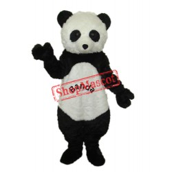 Giant Panda with letters Mascot Adult Costume Free Shipping