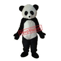 Long Wool giant Panda Mascot Adult Costume Free Shipping
