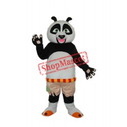 Short wool Kung Fu Panda Mascot Adult Costume Free Shipping