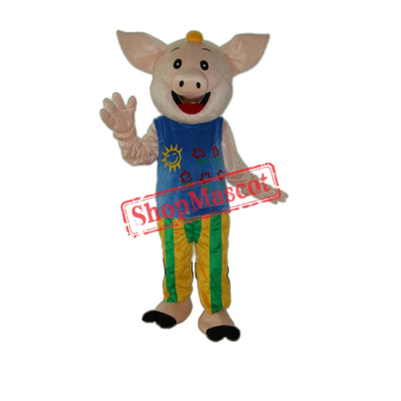 Cocoa Male Pig Mascot Adult Costume Free Shipping