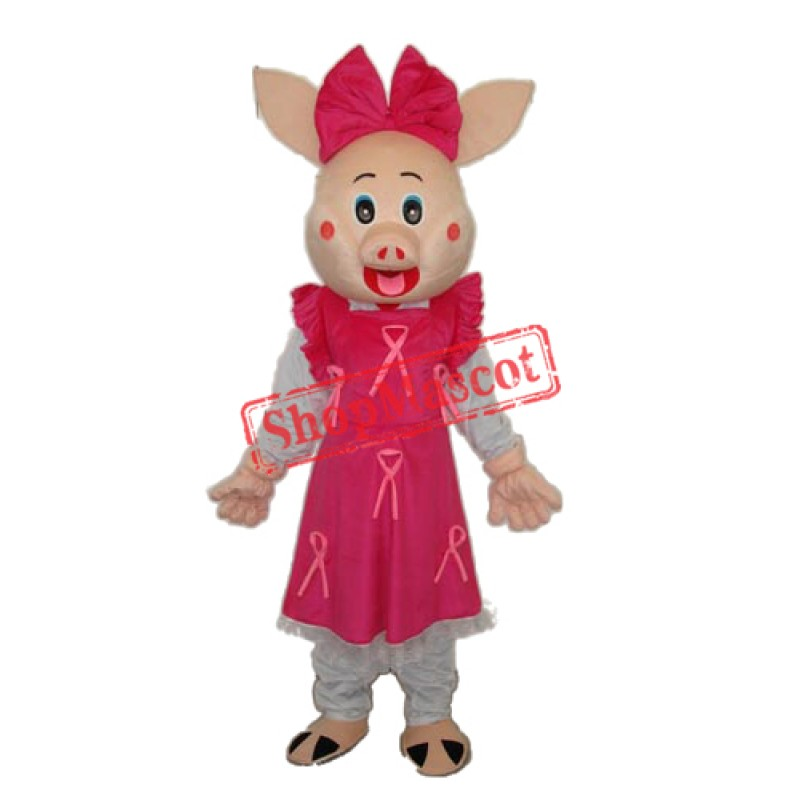 Cute Plump Pig Mascot Adult Costume Free Shipping