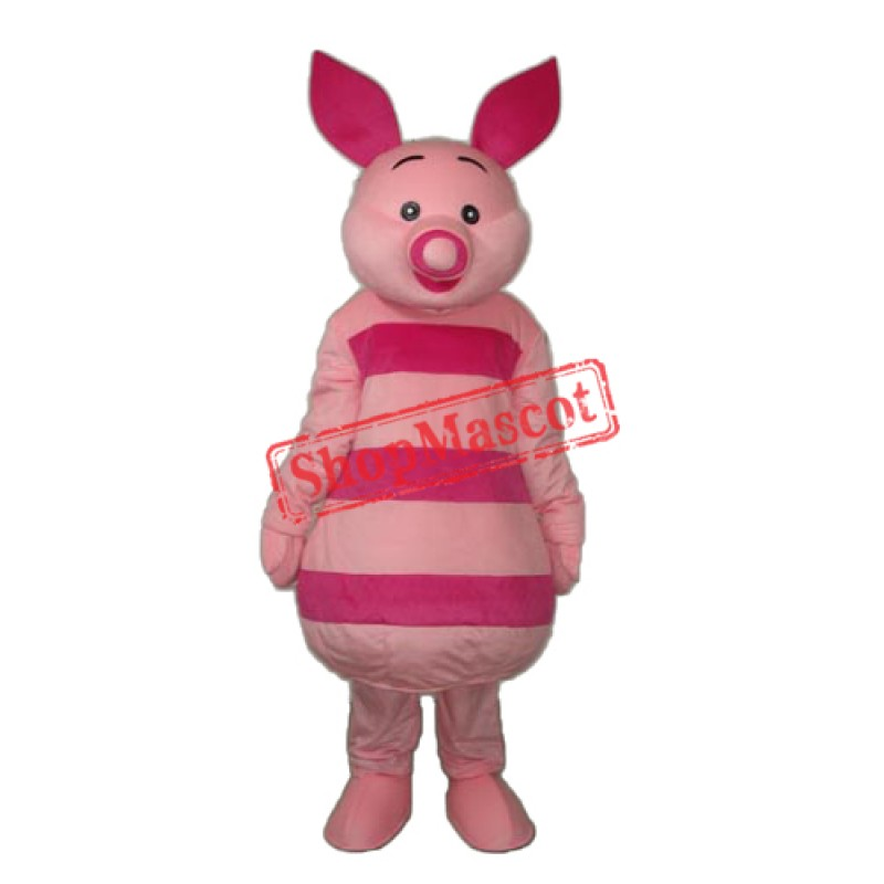 Small Round Nose Pink Pig Mascot Adult Costume Free Shipping
