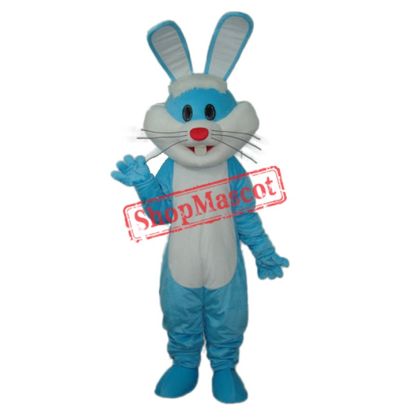 Blue Rabbit Mascot Adult Costume Free Shipping