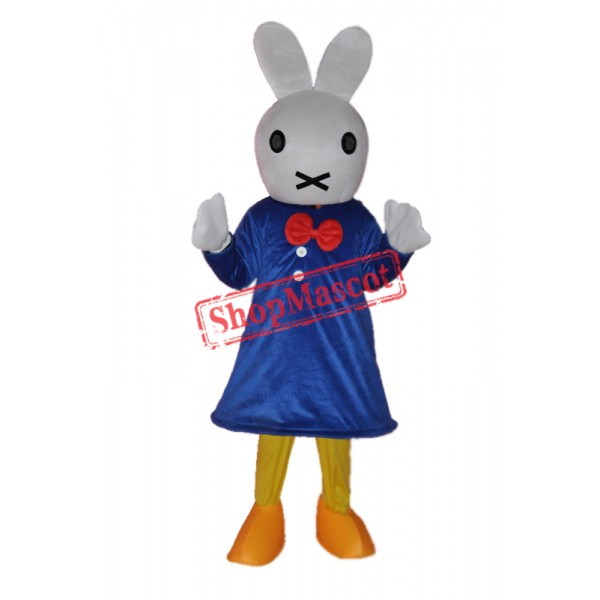 Clever Rabbit Mascot Adult Costume Free Shipping