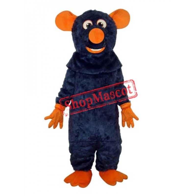 Dark Blue Big Tooth Black Plush Moust Adult Mascot Costume Free Shipping
