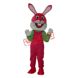 Etiquette Rabbit Mascot Adult Costume Free Shipping