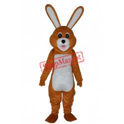Lovely Brown Rabbit Adult Mascot Costume Free Shipping