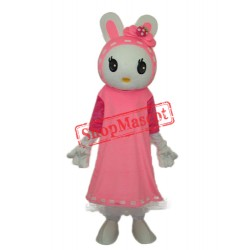 Miss Rabbit Mascot Adult Costume Free Shipping