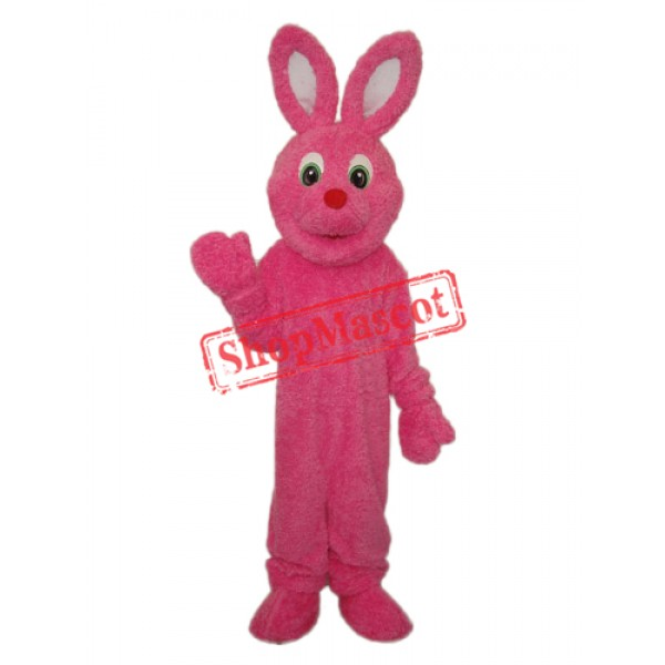 Pink Furry Rabbit Mascot Adult Costume Free Shipping