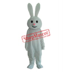 Pink Nose Rabbit Mascot Adult Costume Free Shipping