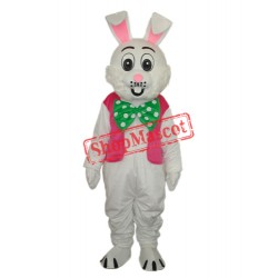 Pink Vest Rabbit Mascot Adult Costume Free Shipping