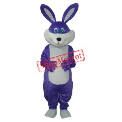 Purple Rabbit Mascot Adult Costume Free Shipping