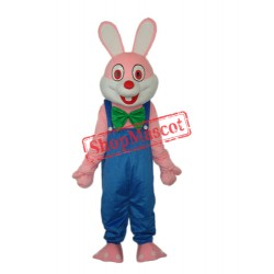 Robbie Rabbit Mascot Adult Costume Free Shipping