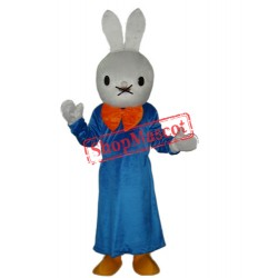 Smart Rabbit Mascot Adult Costume Free Shipping