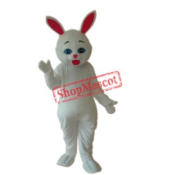 White Rabbit Mascot Adult Costume Free Shipping