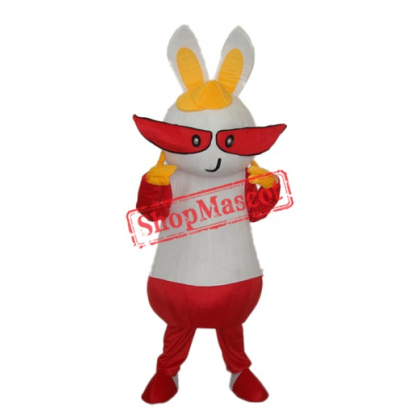Yellow Hat Rabbit Mascot Adult Costume Free Shipping