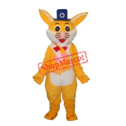 Yellow Rabbit Mascot Adult Costume Free Shipping