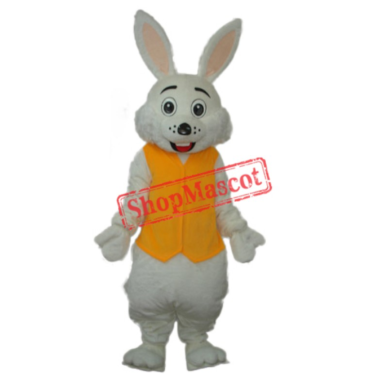 Yellow Vest Rabbit Mascot Adult Costume Free Shipping