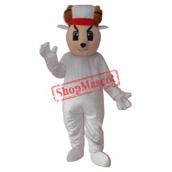 Happy Sheep Mascot Adult Costume Free Shipping